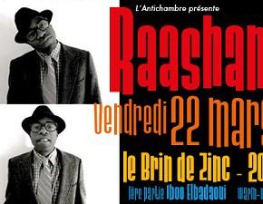 Concert de Raashan Ahmad au Brin de Zinc